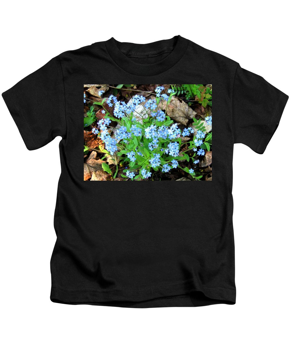 Forget-me-not Kids T-Shirt featuring the photograph Forget-me-not by Will Borden