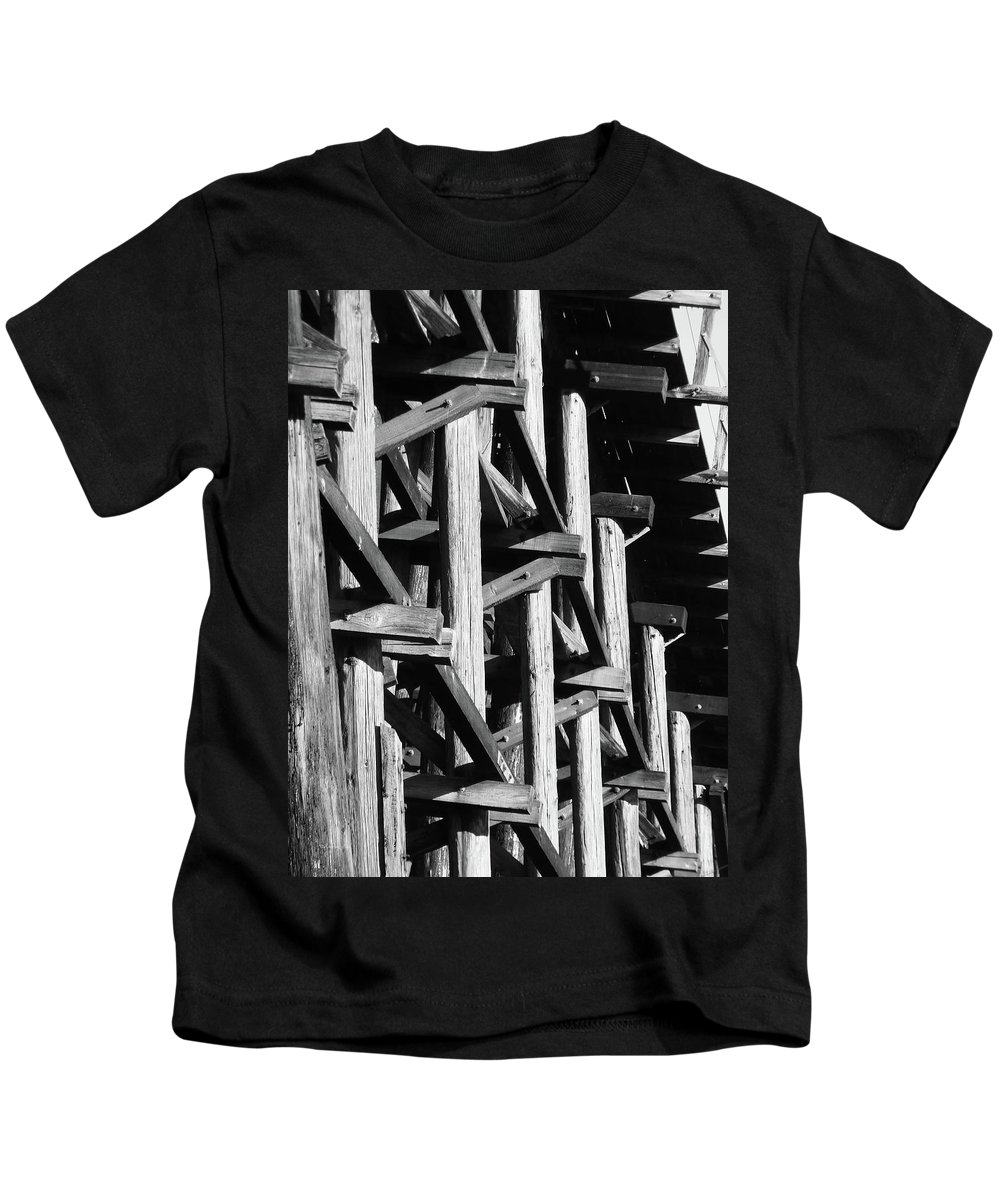 Abstract Kids T-Shirt featuring the photograph Form And Function 1 by Xueling Zou
