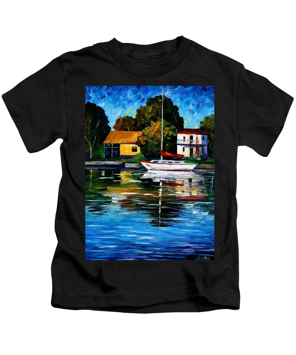 Afremov Kids T-Shirt featuring the painting Fort Lauderdale - Florida by Leonid Afremov