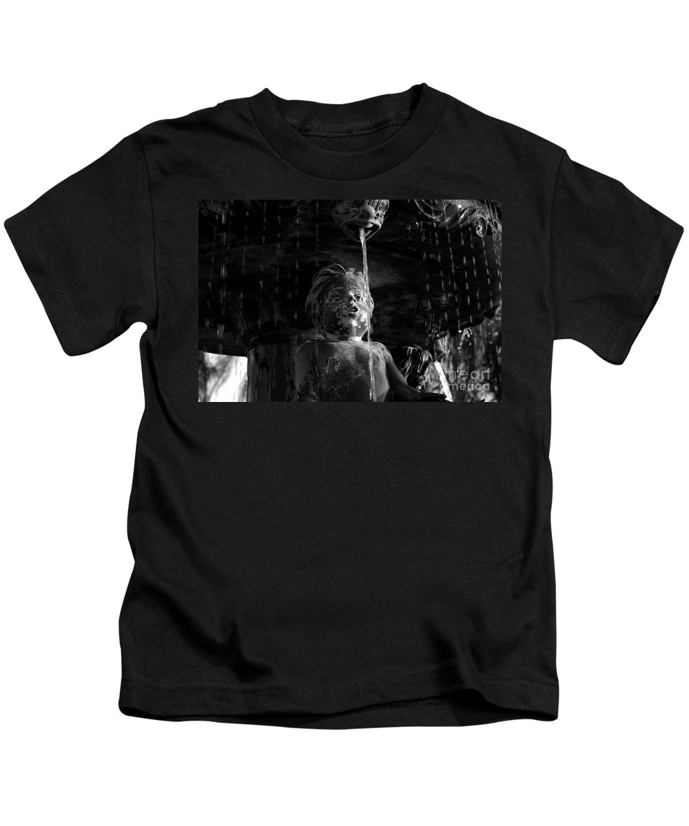 Water Fountain Kids T-Shirt featuring the photograph Fountain Child by David Lee Thompson
