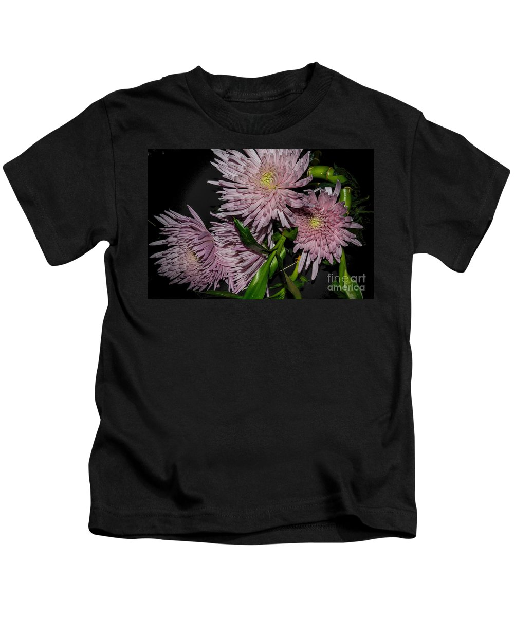 Flower Photography Kids T-Shirt featuring the photograph Four by Diana Mary Sharpton