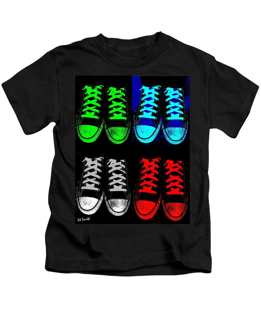 Four Four A Dollar Kids T-Shirt featuring the photograph Four Four A Dollar by Edward Smith