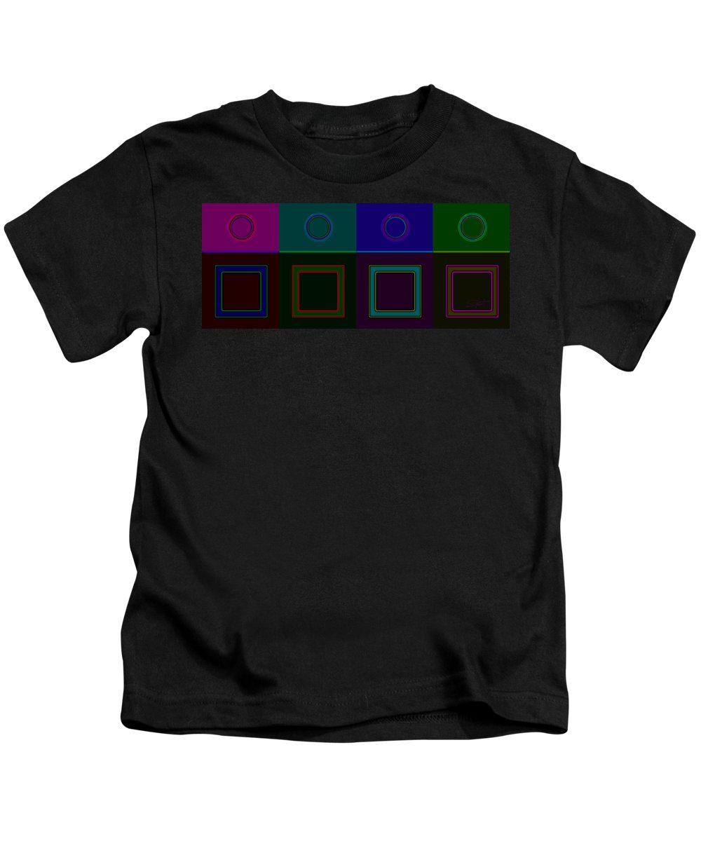 Classical Kids T-Shirt featuring the digital art Four Square by Charles Stuart