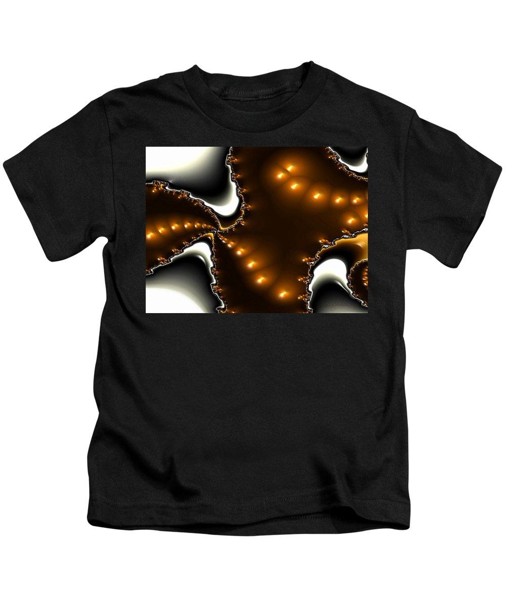 Nest Eggs Fractals Jewels Kids T-Shirt featuring the digital art Fractal 2 by Veronica Jackson
