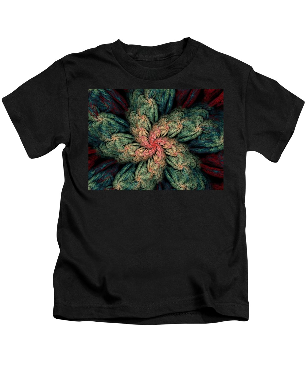 Digital Painting Kids T-Shirt featuring the digital art Fractal Fantasy 02-13-10 by David Lane