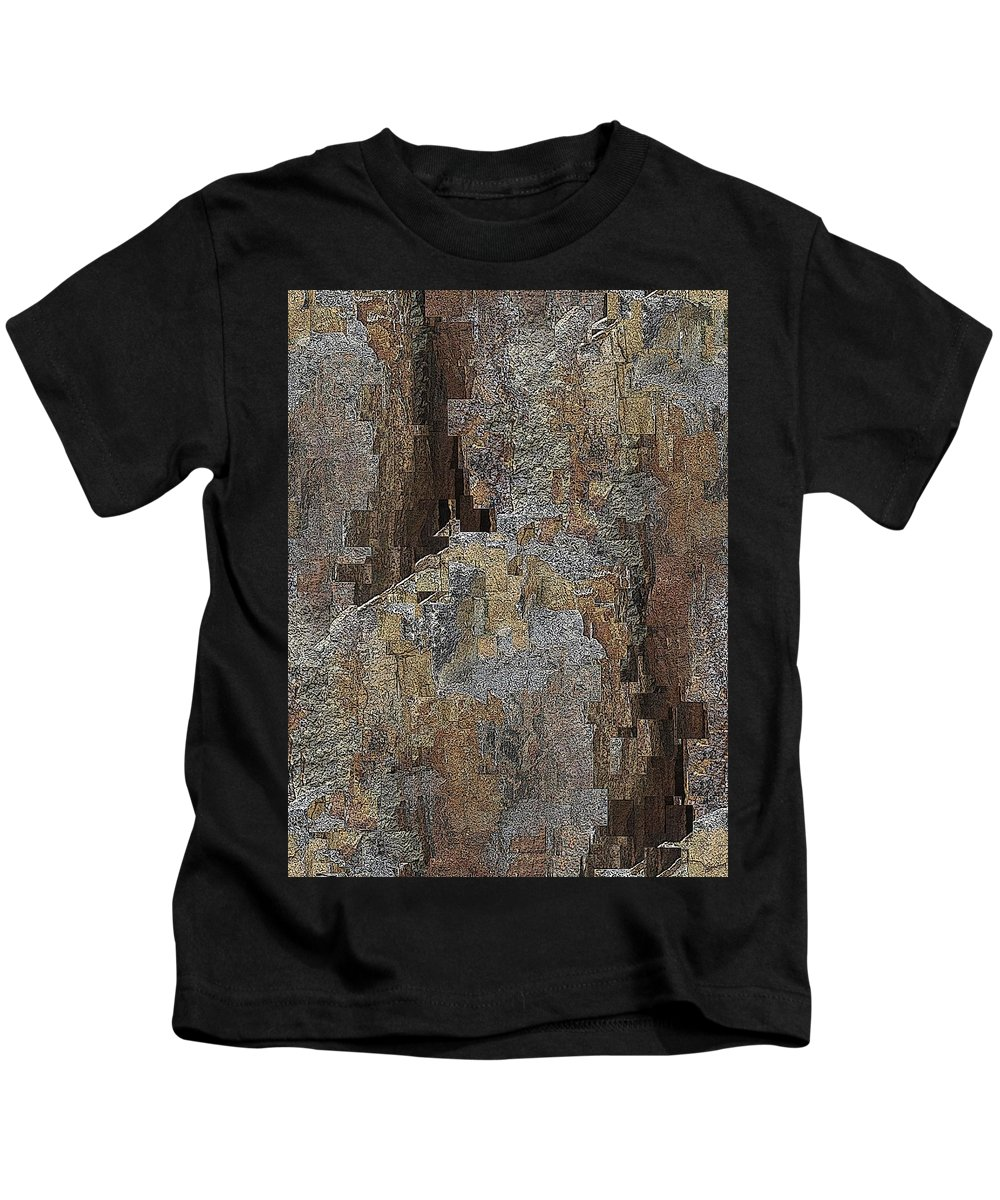Abstract Kids T-Shirt featuring the digital art Fracture Frenzy by Tim Allen