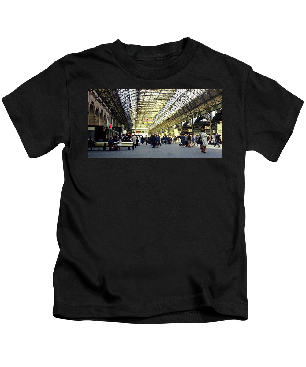 Germany Kids T-Shirt featuring the photograph Frankfurt Hbf by Lee Santa