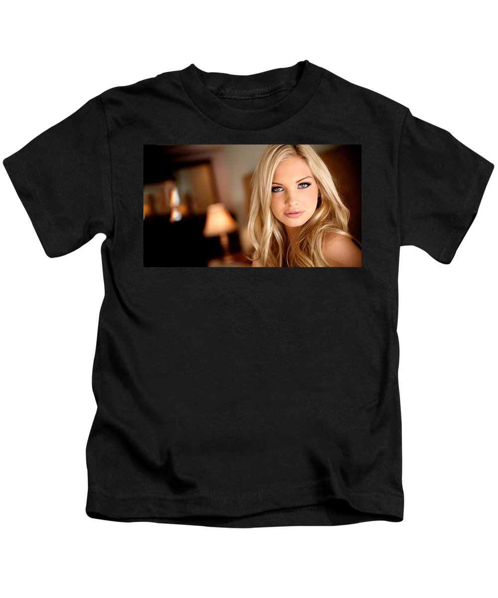 Franziska Facella Kids T-Shirt featuring the digital art Franziska Facella by Dorothy Binder