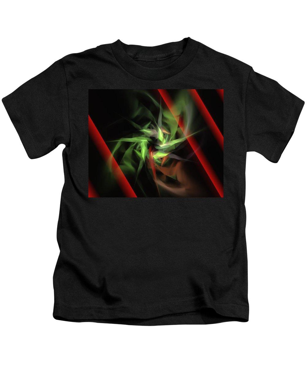 Digital Painting Kids T-Shirt featuring the digital art Freedom Vs Oppression by David Lane