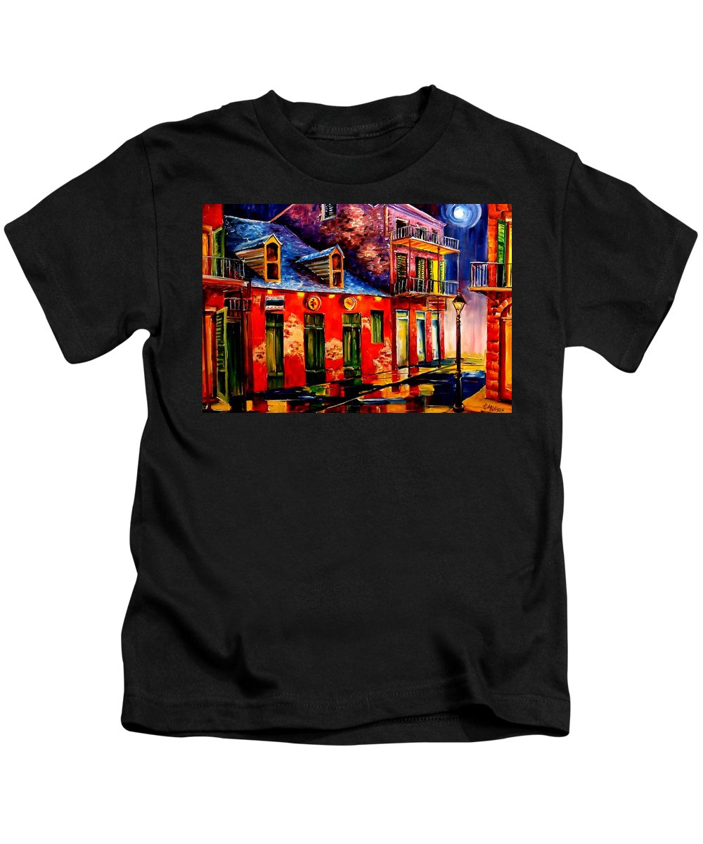 New Orleans Kids T-Shirt featuring the painting French Quarter Dazzle by Diane Millsap
