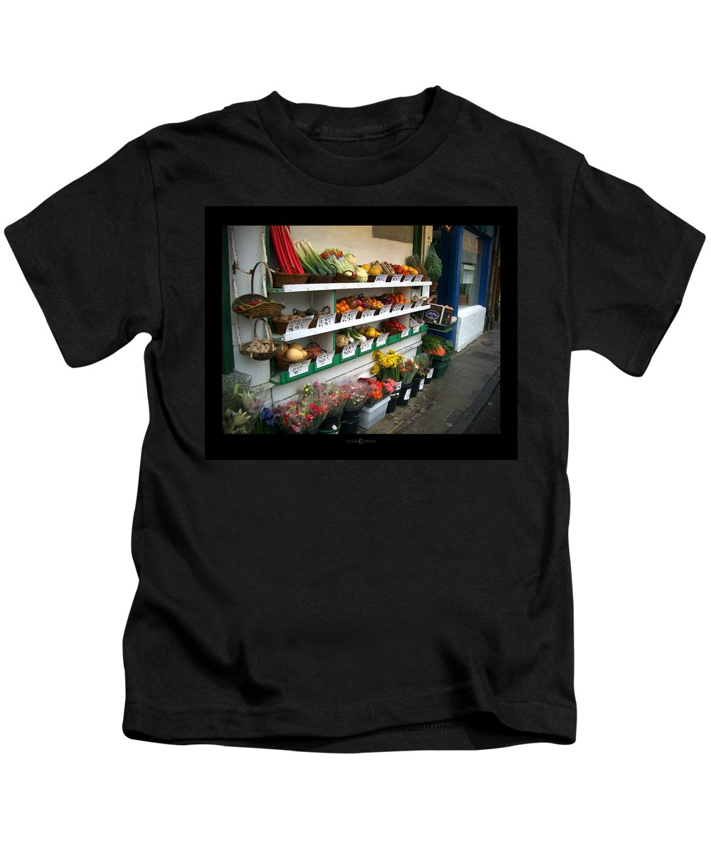 Shaftesbury Kids T-Shirt featuring the photograph Fresh Produce by Tim Nyberg