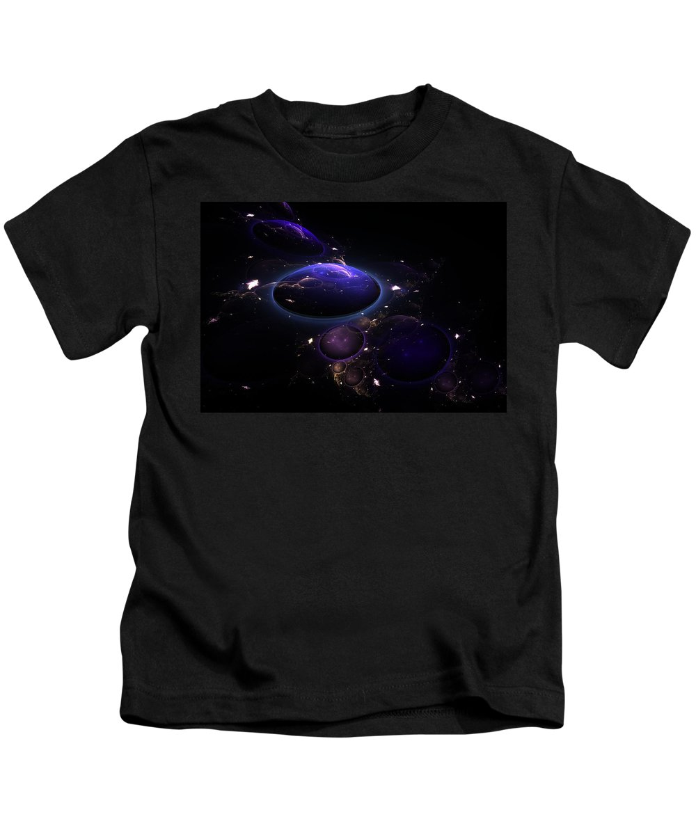 Abstract Kids T-Shirt featuring the digital art From The Depths Of Space by Lyle Hatch