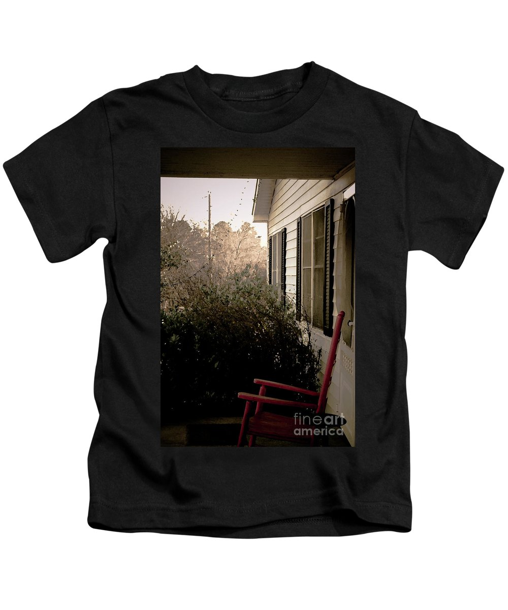 Front Porch Kids T-Shirt featuring the photograph Front Porch Memories by Kim Henderson