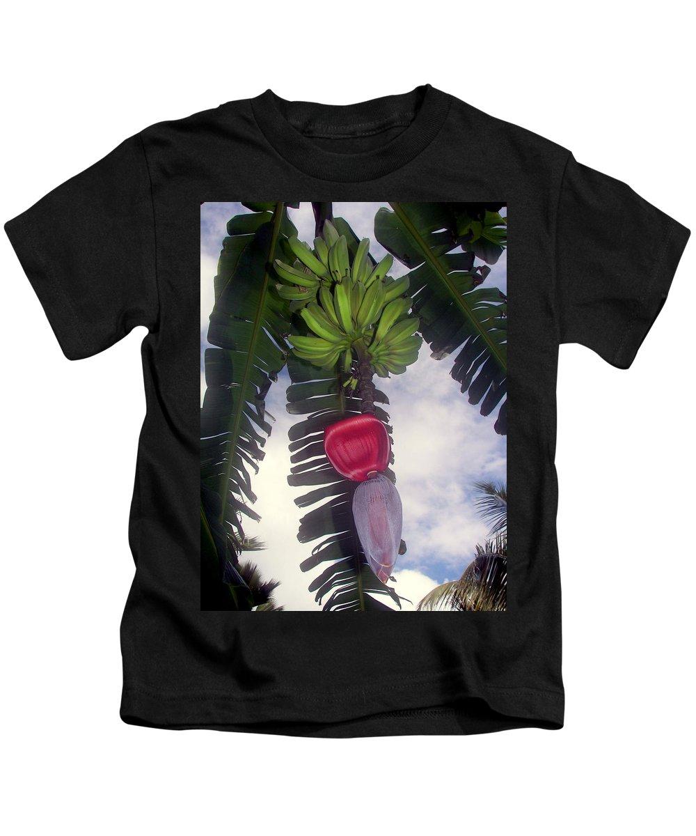 Tropical Kids T-Shirt featuring the photograph Fruitful Beauty by Karen Wiles