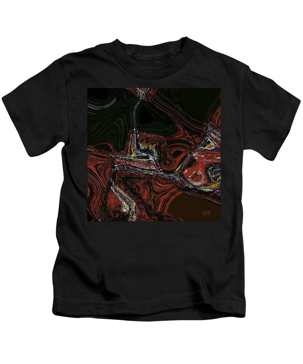 Abstract Digital Art Kids T-Shirt featuring the digital art Fukushima by Dragica Micki Fortuna
