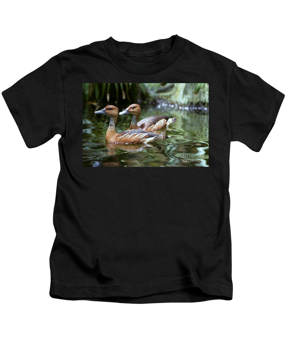 Duck Kids T-Shirt featuring the photograph Fulvous Whistling Duck by Randy Matthews