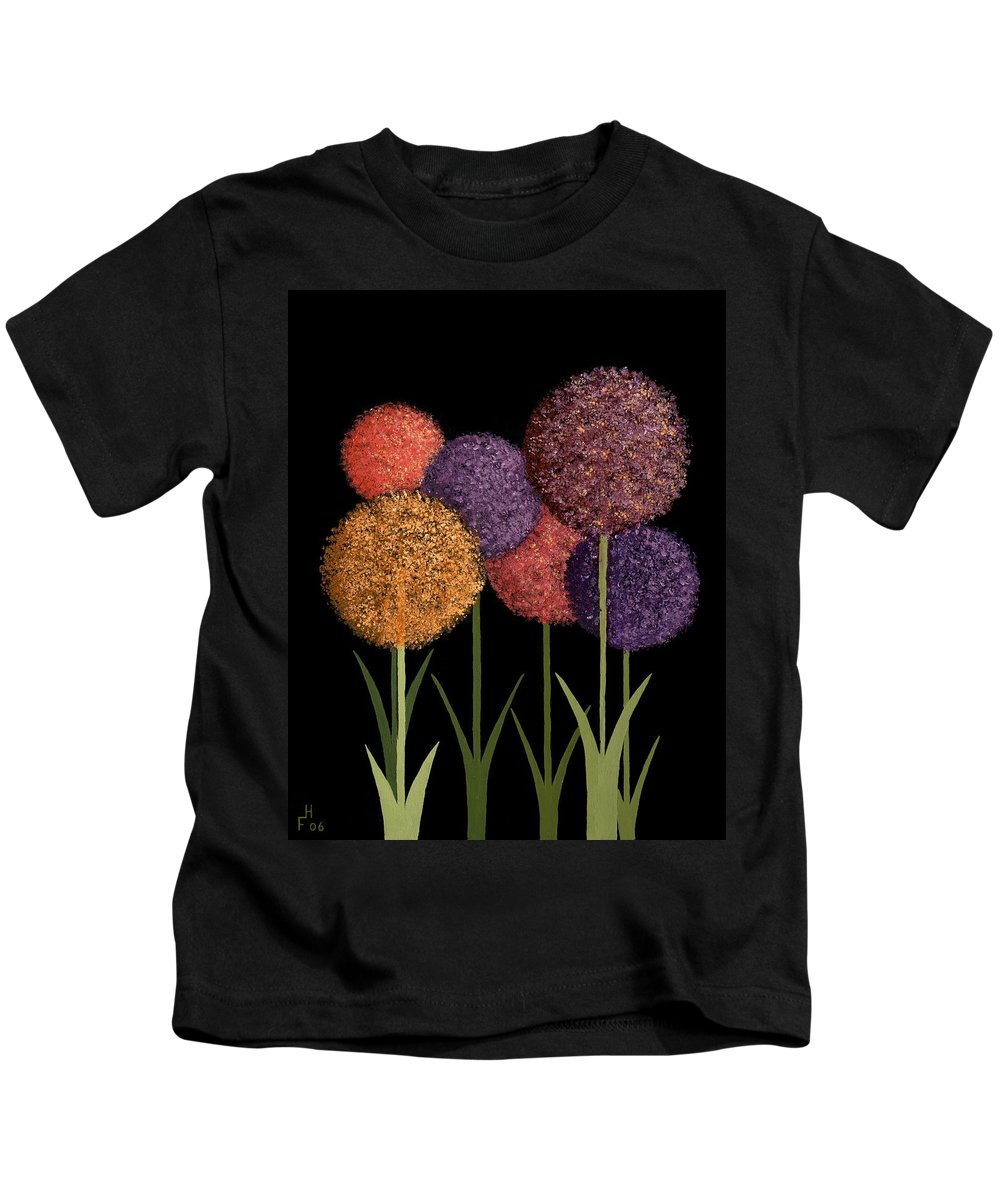 Art Decor Kids T-Shirt featuring the painting Fun Colours by Frank Hamilton