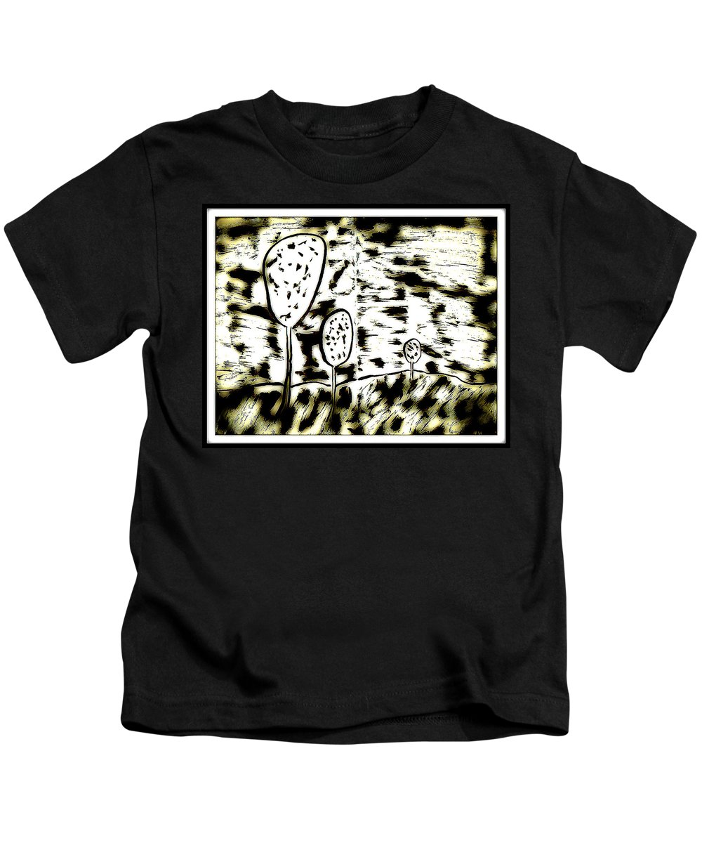 Ink Kids T-Shirt featuring the digital art Fun In Trees 6 by Mario MJ Perron