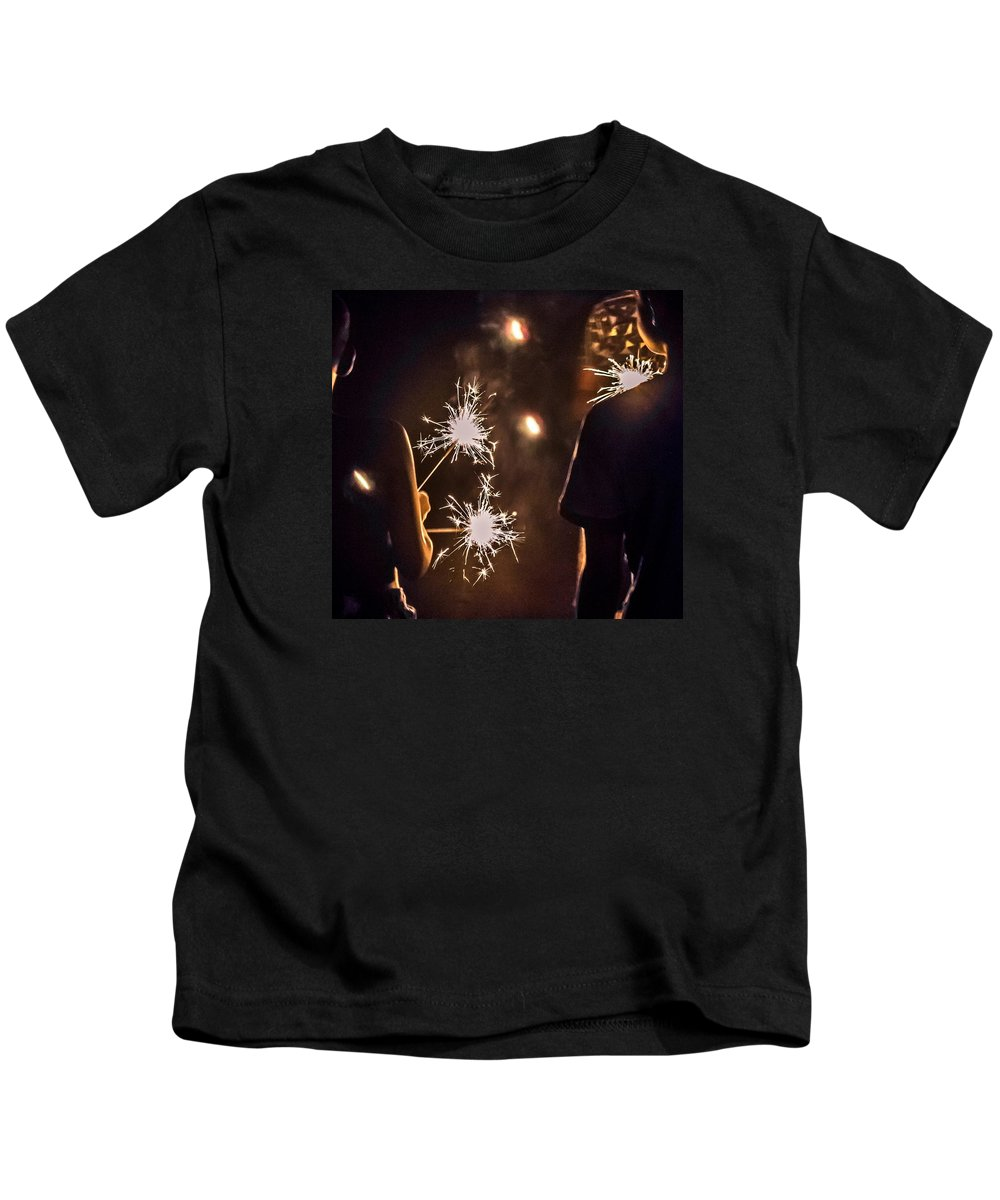 4th Kids T-Shirt featuring the photograph Fun On The 4th by Carlee Ojeda