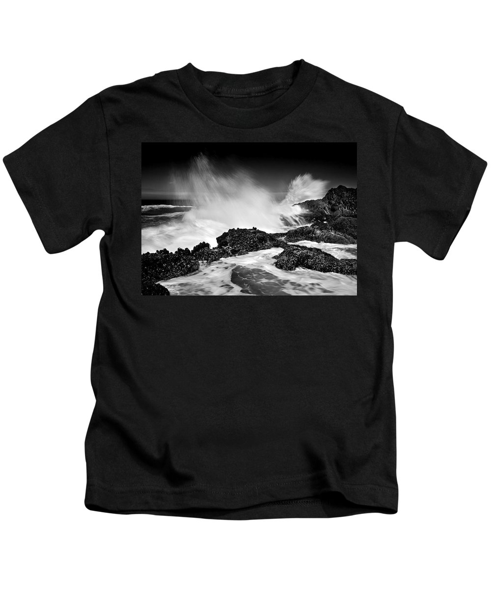 Waves Kids T-Shirt featuring the photograph Fury by Mike Dawson