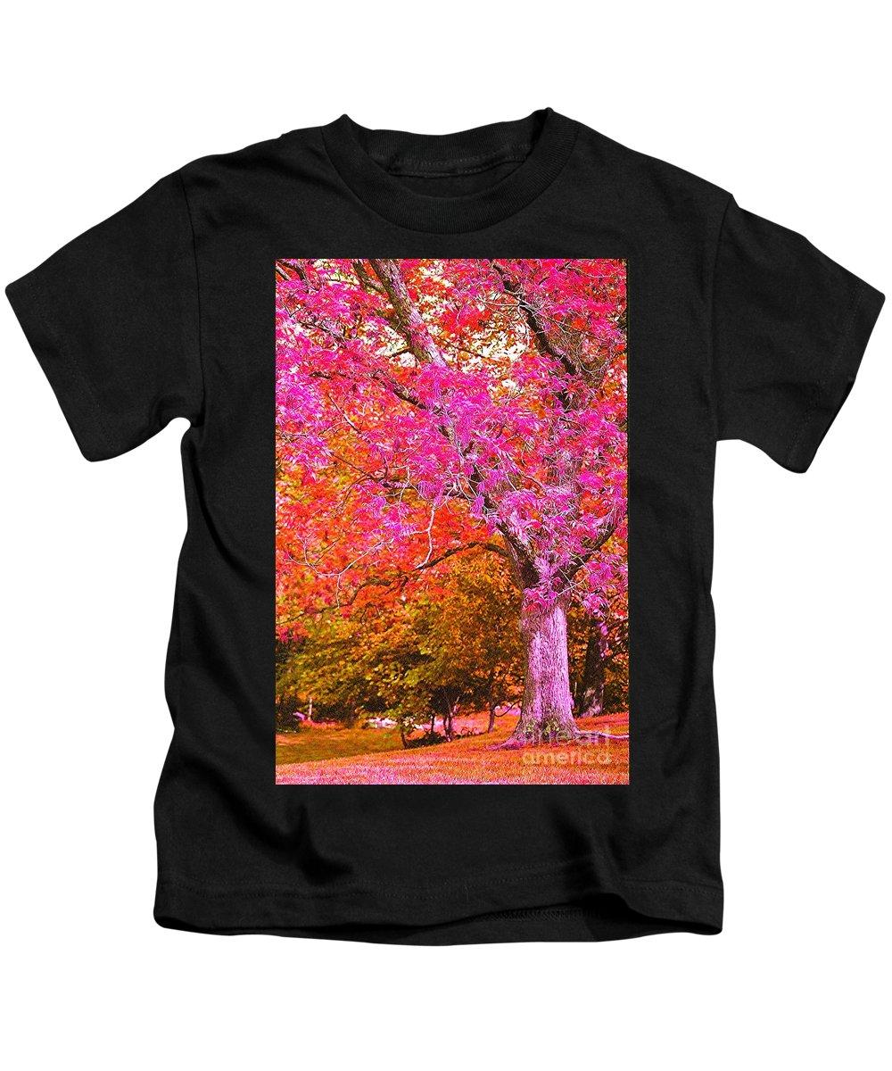 Fuschia Kids T-Shirt featuring the photograph Fuschia Tree by Nadine Rippelmeyer