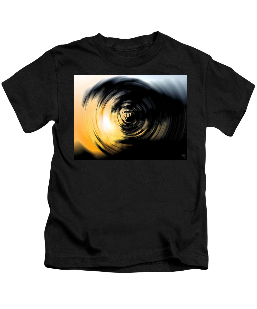 Abstract Kids T-Shirt featuring the digital art Futility II by Stacey May
