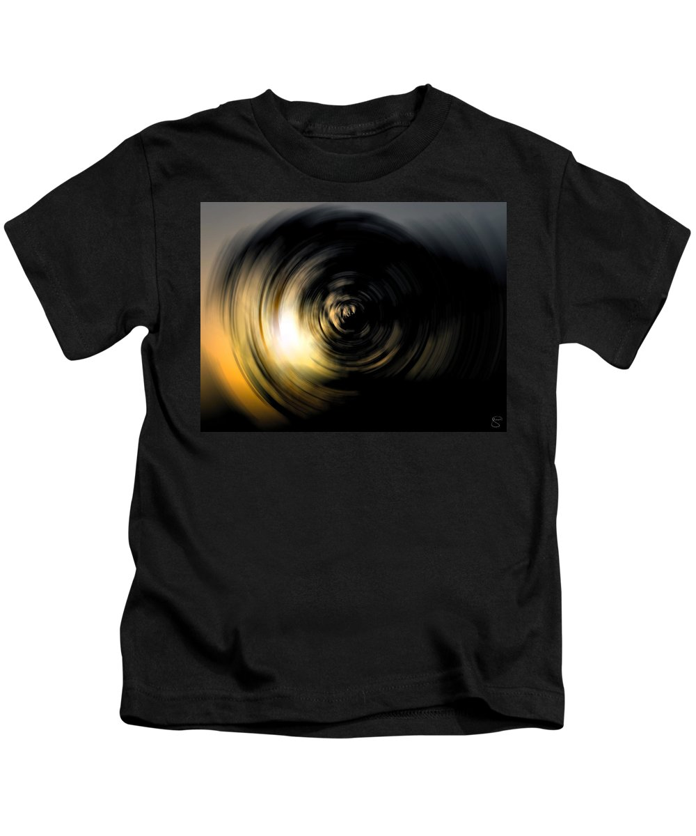 Abstract Kids T-Shirt featuring the digital art Futility by Stacey May