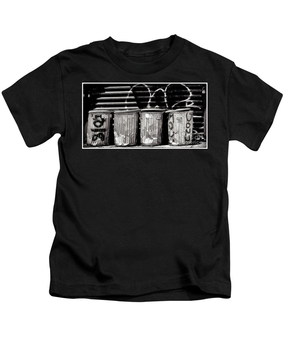 Garbage Kids T-Shirt featuring the photograph Garbage by Madeline Ellis