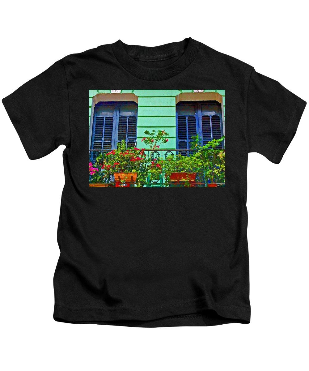 Garden Kids T-Shirt featuring the photograph Garden Balcony by Debbi Granruth