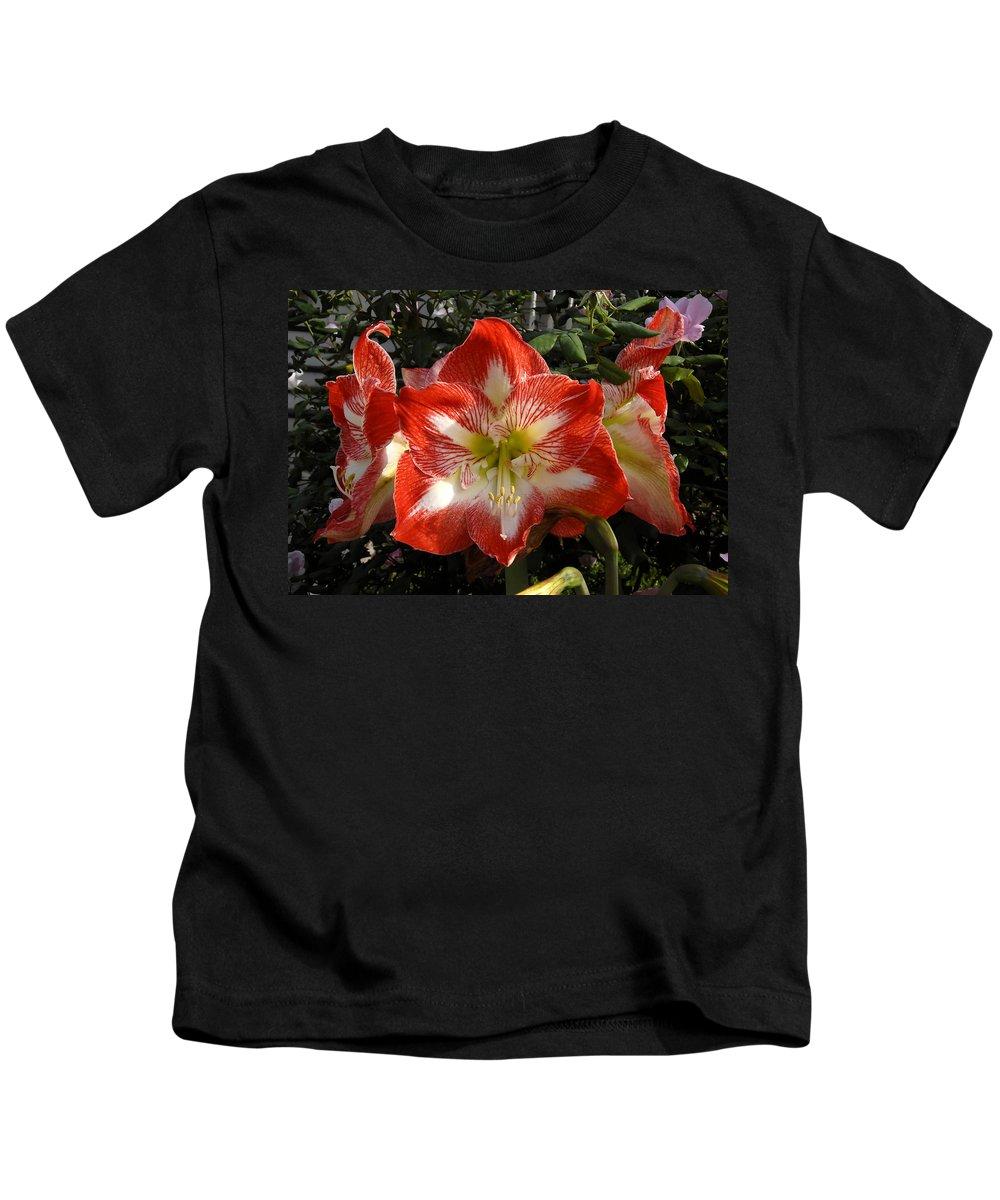 Garden Kids T-Shirt featuring the photograph Garden Flowers by David Lee Thompson