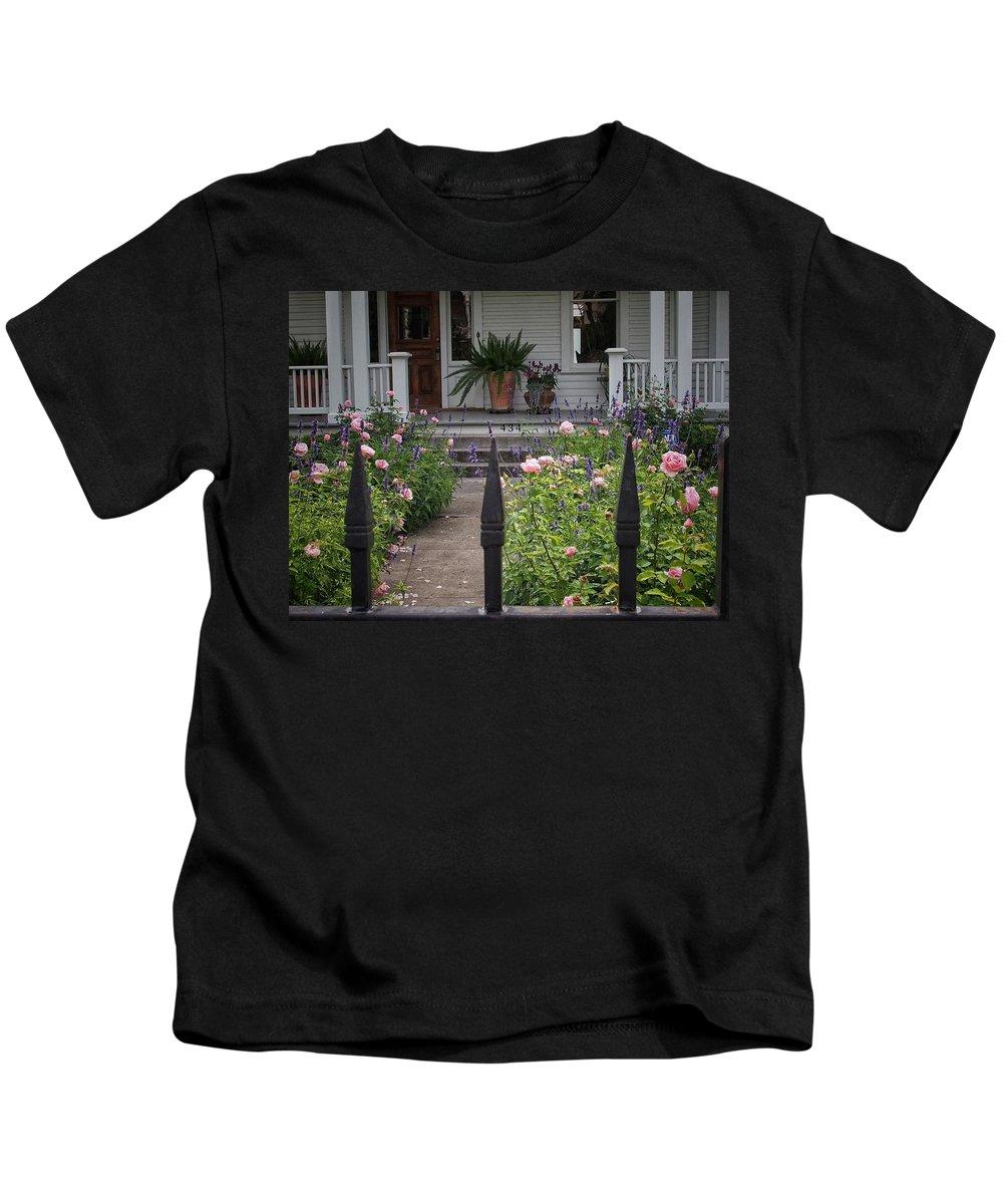 Path Kids T-Shirt featuring the photograph Garden Path by Buck Buchanan