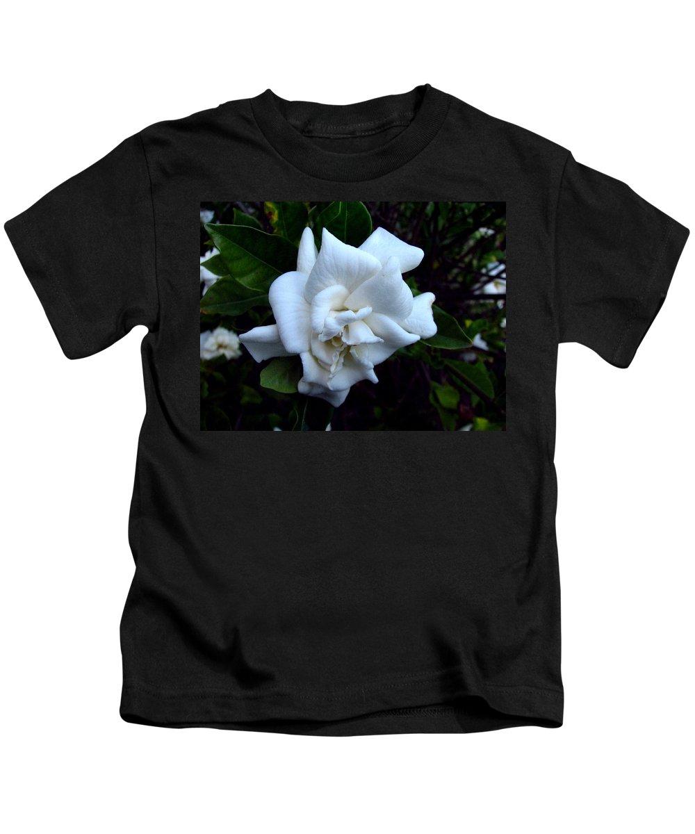 Gardenia Kids T-Shirt featuring the photograph Gardenia 3 by J M Farris Photography