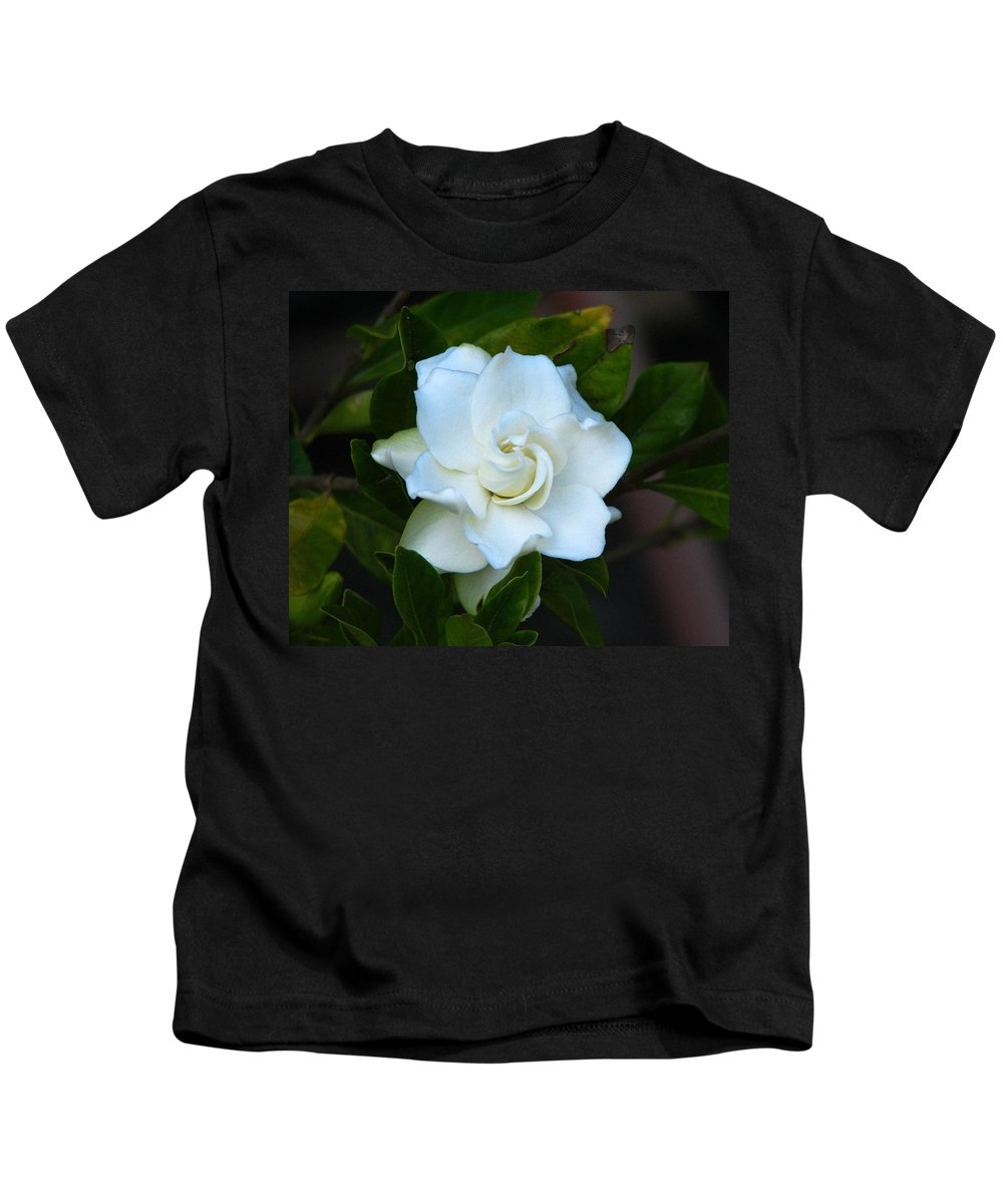 Gardenia Kids T-Shirt featuring the photograph Gardenia 5 by J M Farris Photography