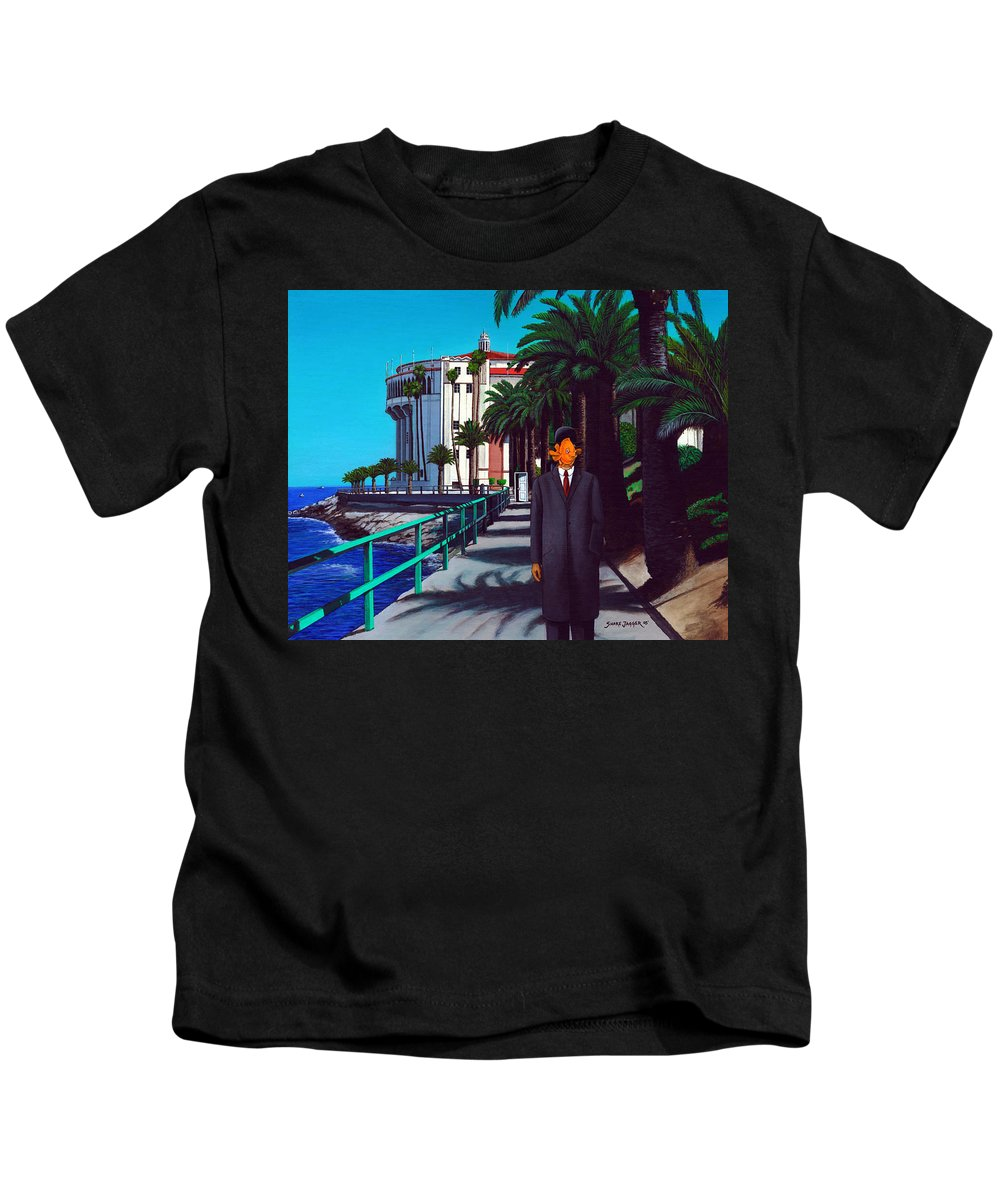 Catalina Kids T-Shirt featuring the painting Gary Baldie by Snake Jagger