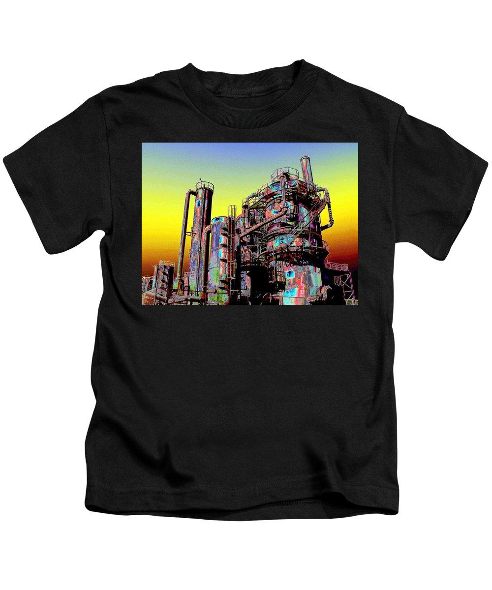 Seattle Kids T-Shirt featuring the digital art Gasworks Park 1 by Tim Allen