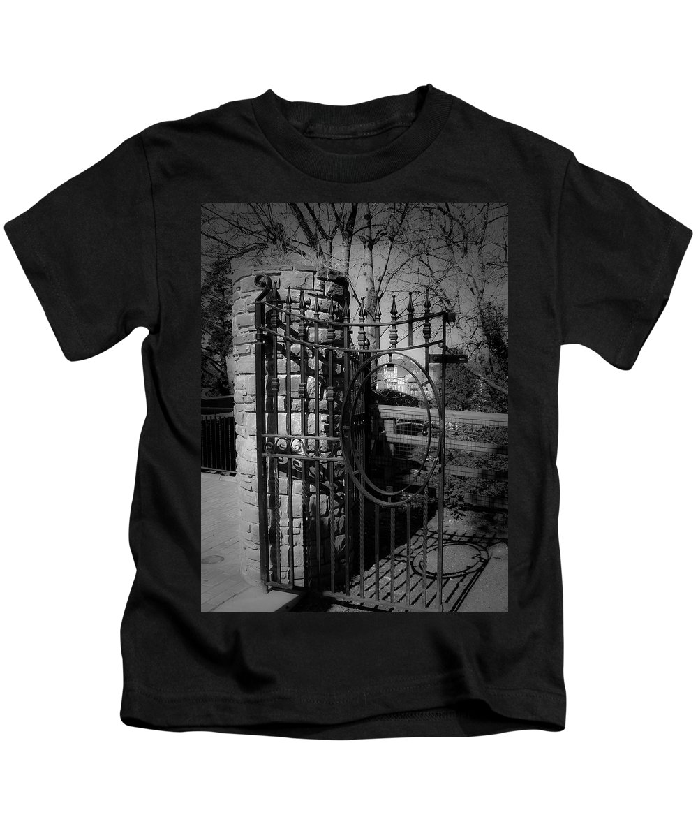Irish Kids T-Shirt featuring the photograph Gate In Macroom Ireland by Teresa Mucha