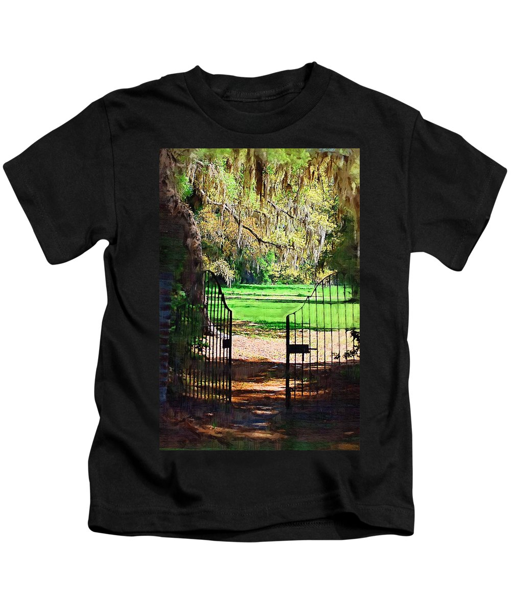 Gate Kids T-Shirt featuring the photograph Gate To Heaven by Donna Bentley