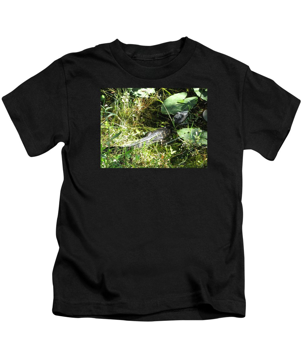Gator Kids T-Shirt featuring the photograph Gator Baby by Christiane Schulze Art And Photography