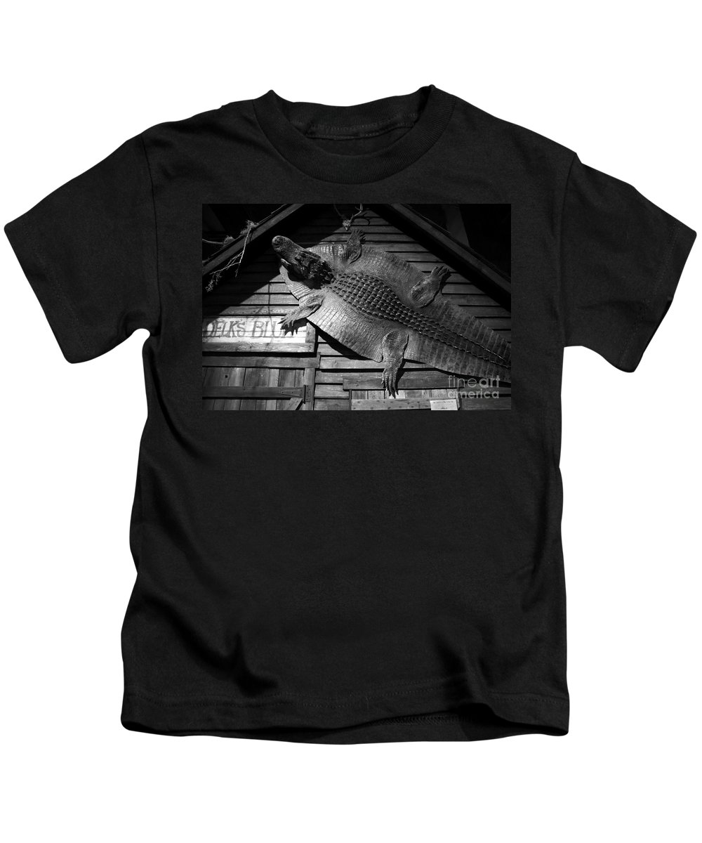 Alligator Kids T-Shirt featuring the photograph Gator Hide by David Lee Thompson