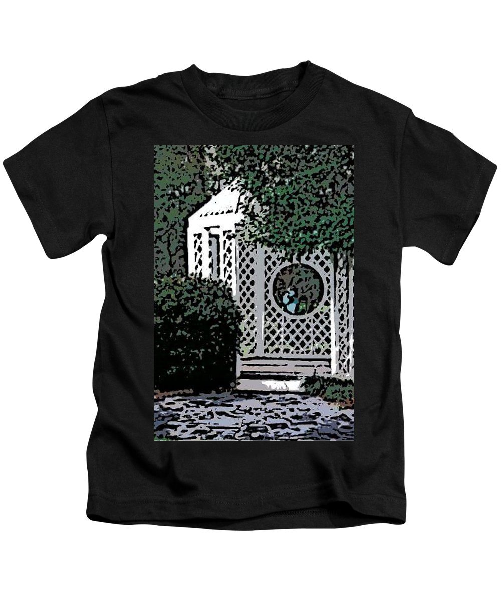 Gazebo Kids T-Shirt featuring the photograph Gazebo by Donna Bentley