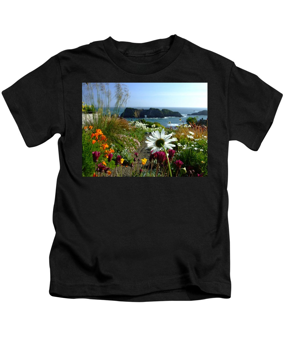 Daisy Kids T-Shirt featuring the photograph Gazing Toward The Sea by Donna Blackhall