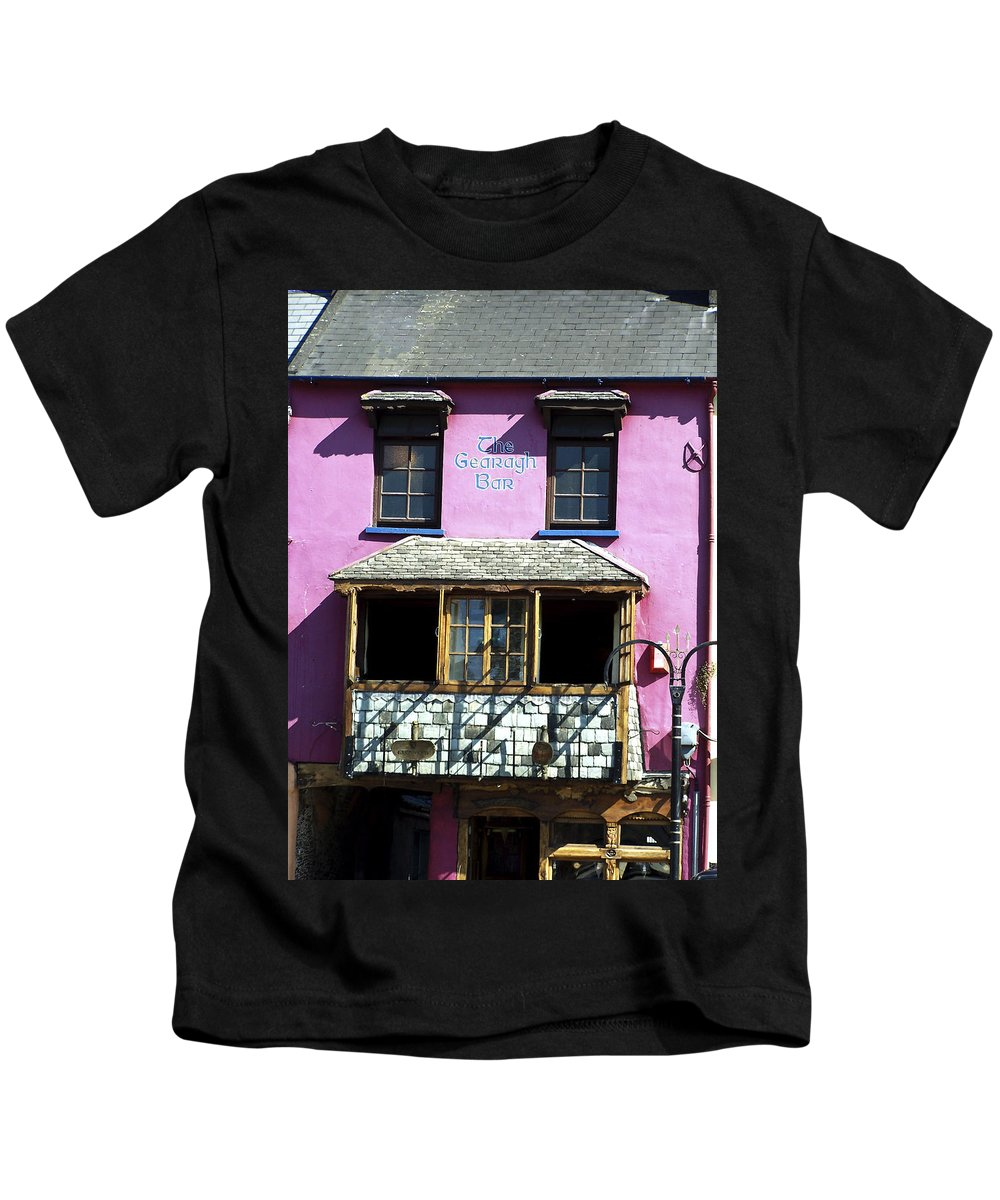 Irish Kids T-Shirt featuring the photograph Gearagh Pub In Macroom Ireland by Teresa Mucha