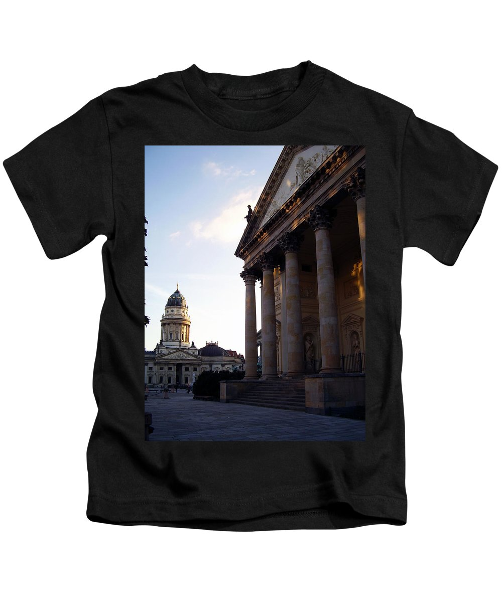 Gendarmenmarkt Kids T-Shirt featuring the photograph Gendarmenmarkt by Flavia Westerwelle