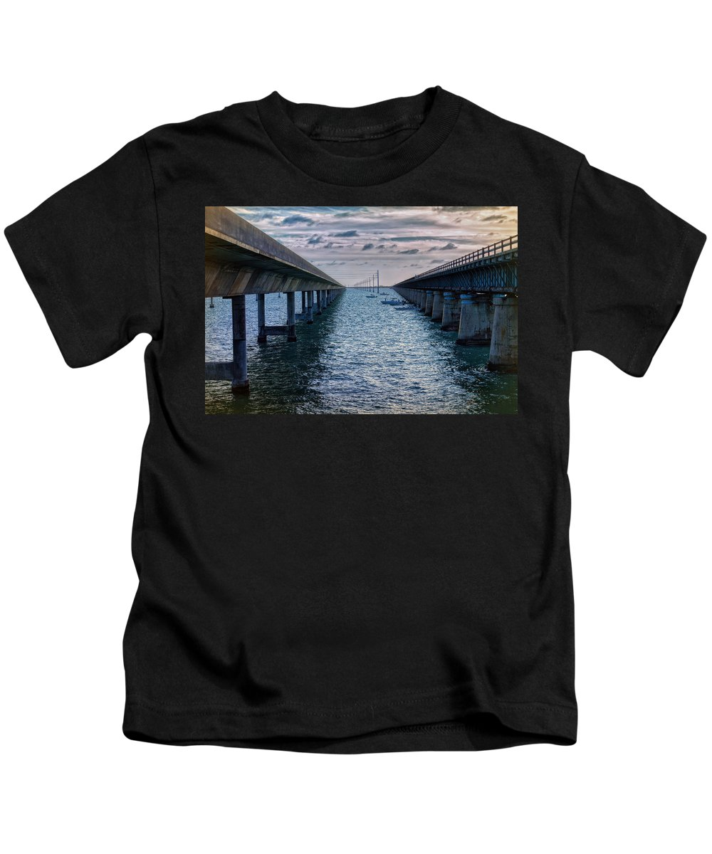 Architecture Kids T-Shirt featuring the photograph Generations Of Bridges by John M Bailey