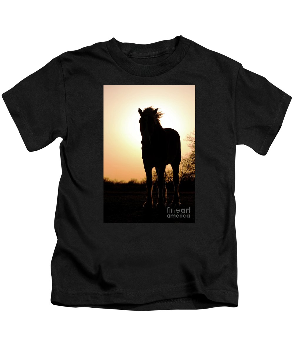 Silhouette Kids T-Shirt featuring the photograph Gentlest Giant by Sari ONeal