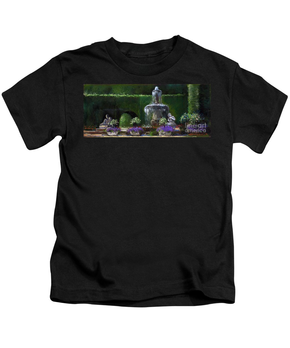 Pastel Kids T-Shirt featuring the painting Germany Baden-baden 15 by Yuriy Shevchuk