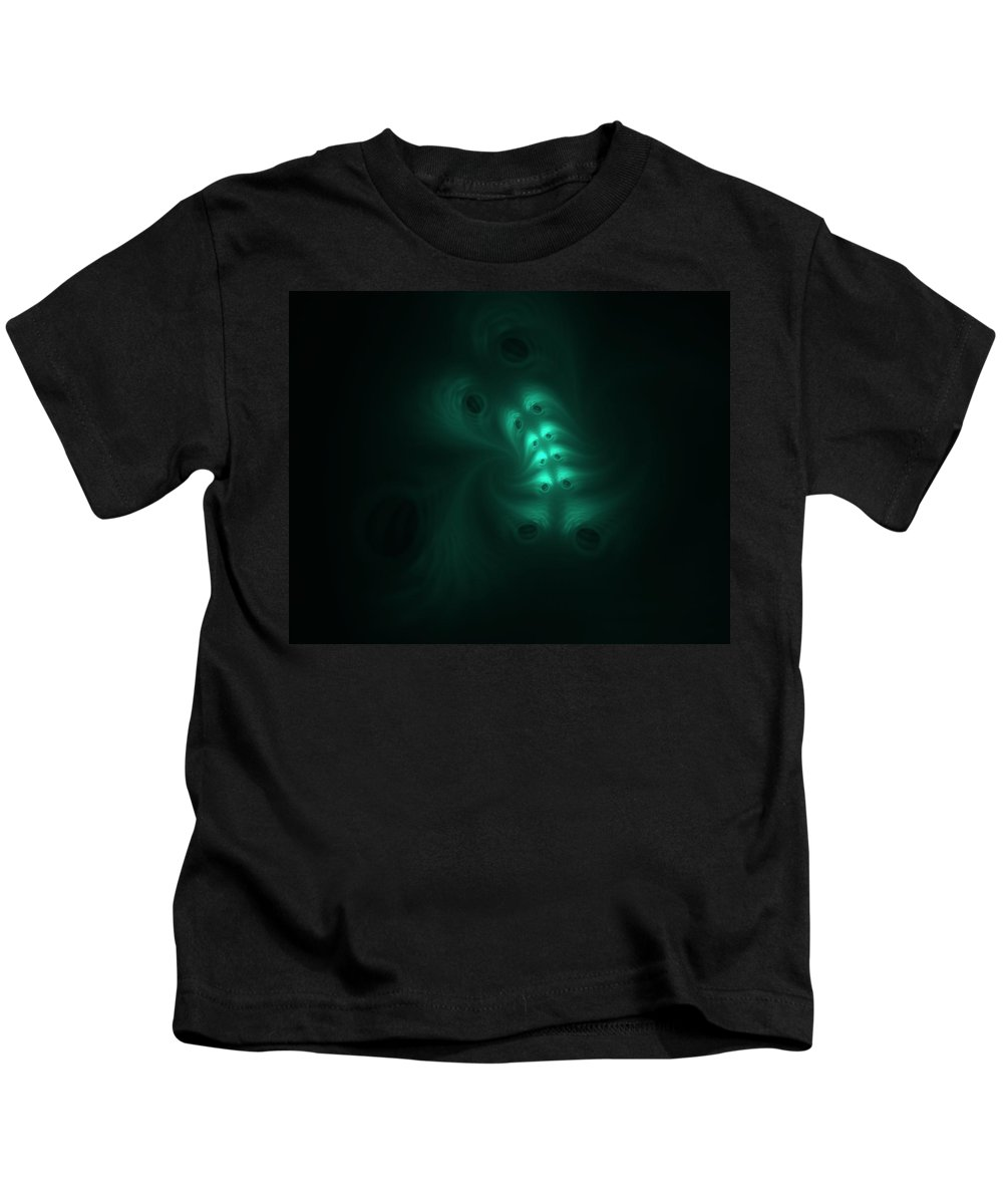 Digital Painting Kids T-Shirt featuring the digital art Ghost in the Machine by David Lane