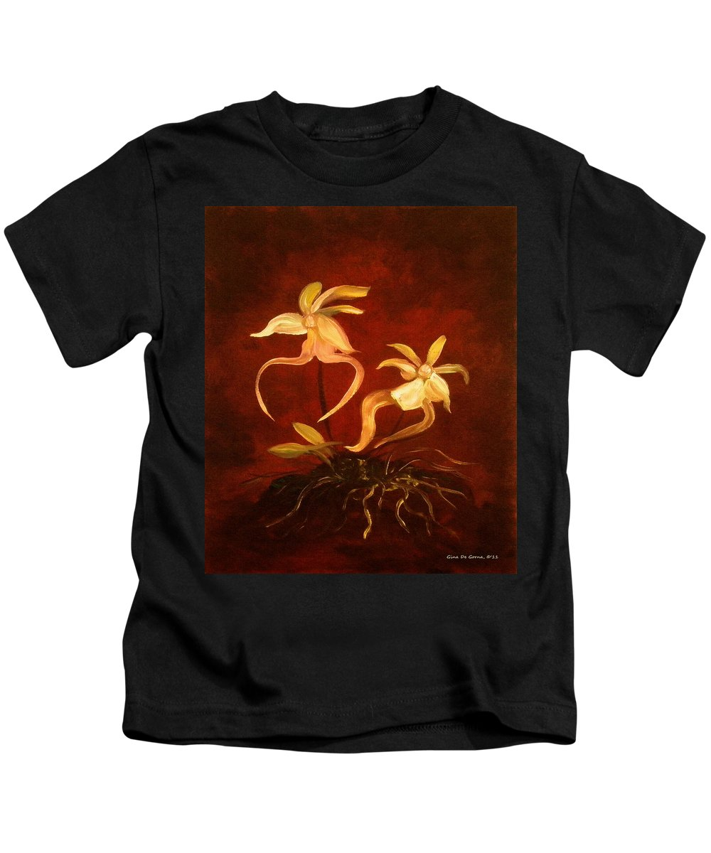 Ghost Kids T-Shirt featuring the painting Ghost Orchids by Gina De Gorna
