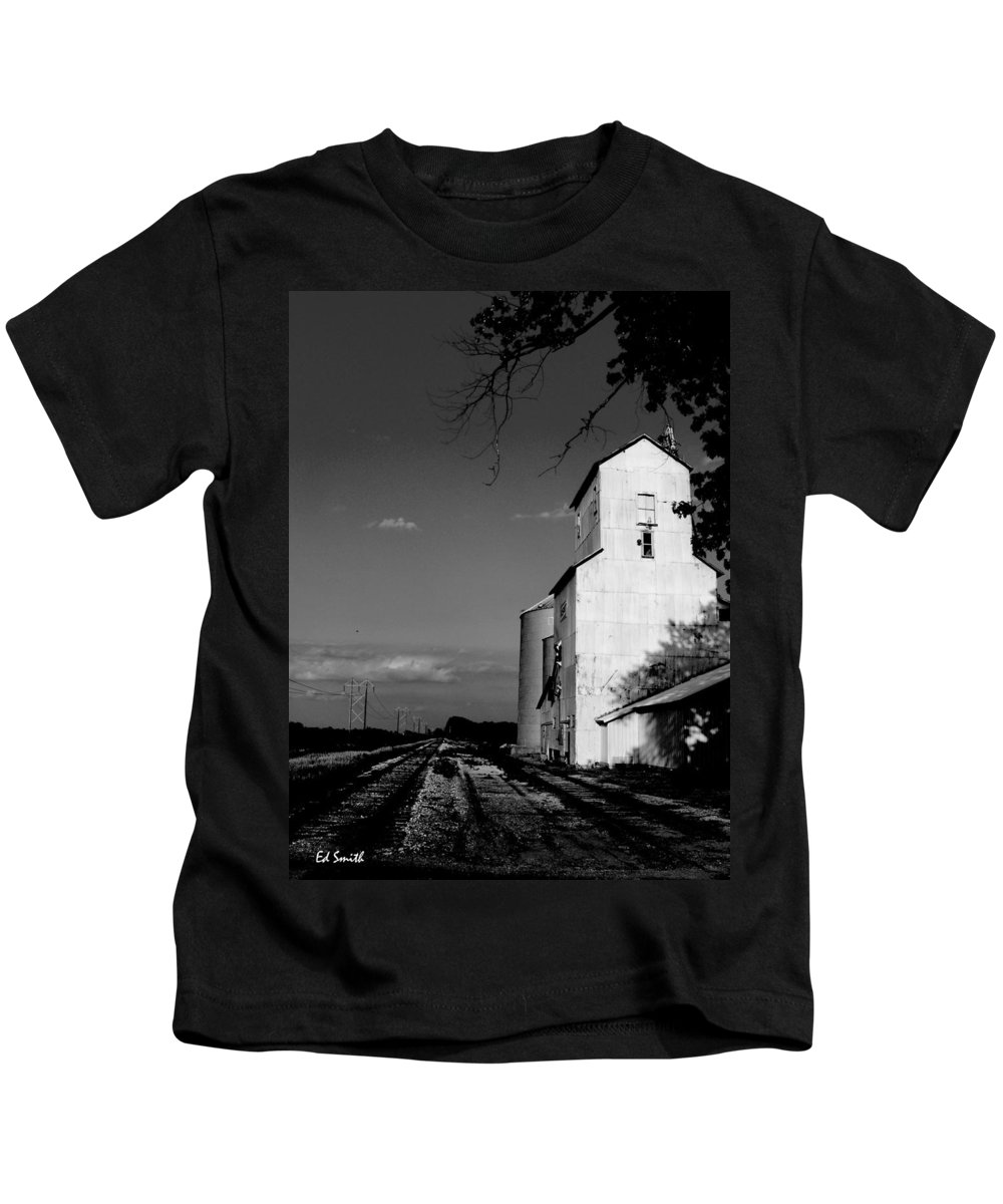 Original Photograph Kids T-Shirt featuring the photograph Ghost Town by Edward Smith