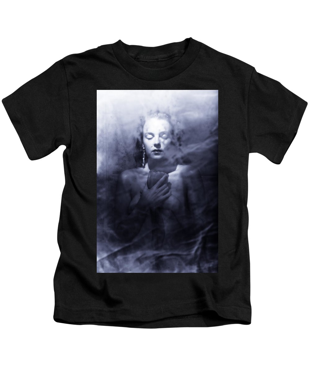 Woman Kids T-Shirt featuring the photograph Ghost Woman by Scott Sawyer